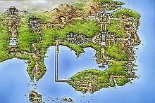 Pokémon Red Green Blue and yellow  Maps Kaito region