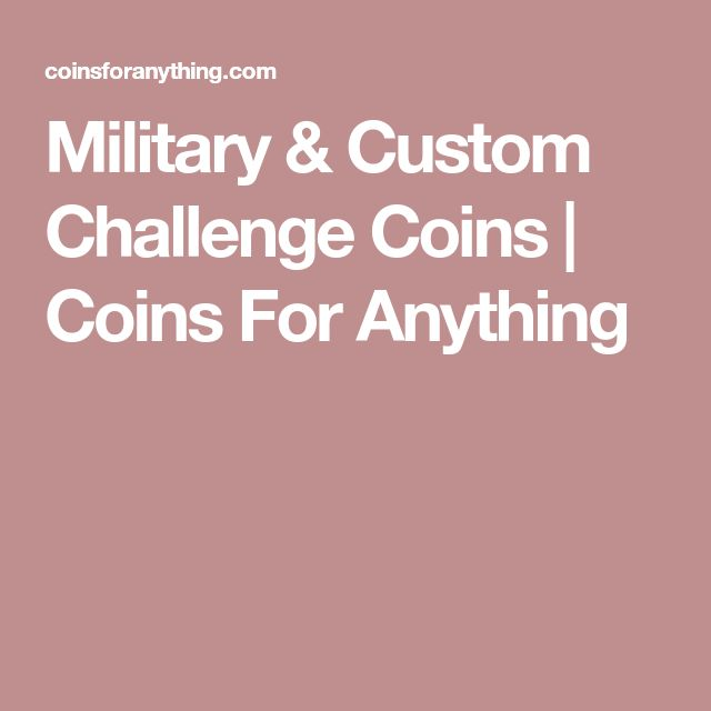 Military & Custom Challenge Coins | Coins For Anything