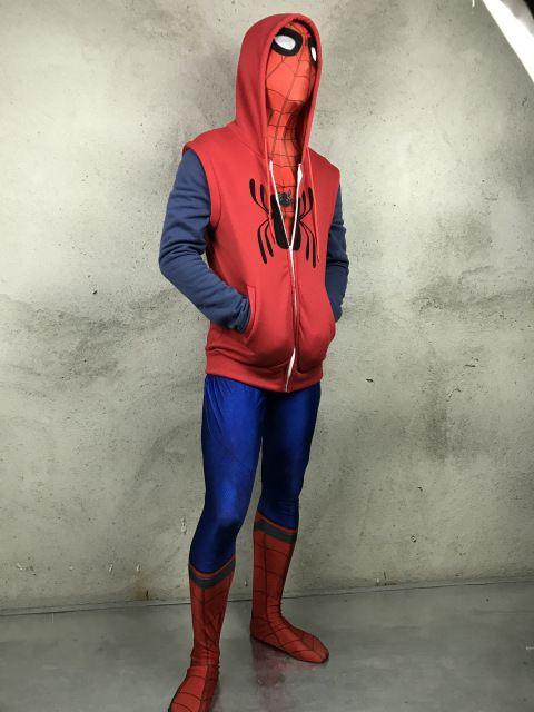 Sale Today $22.03, Buy 2017 Movie Spider-Man Homecoming Peter Parker Cosplay Superman Pullover Hoodies Men Sweatshirt Long Sleeve SpiderMan Jacket