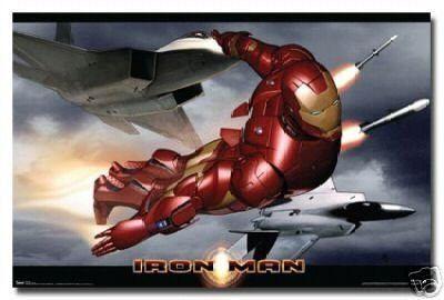 Iron MAN Movie Poster in Flight Rare Hot New 24x36