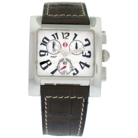 Women's S/S Michele MW2 Chronograph watch. Details: http://www.palisadejewelers.com/portfolio/mw2-chrono-71-750/