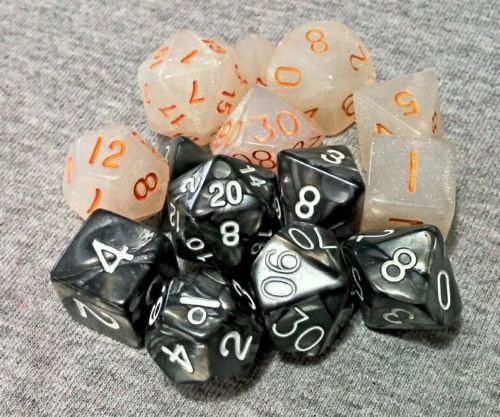2-Sets-of-7-Premium-Polyhedral-Dice-for-RPG-Dungeons-Dragons-Pathfinder-games