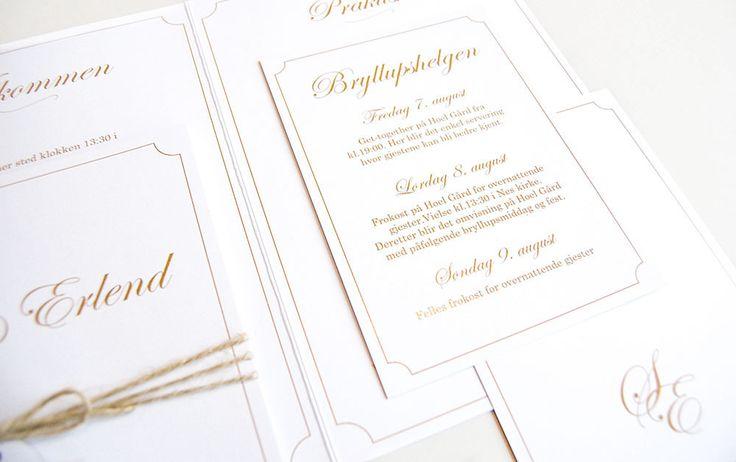 Stilrene og klassiske bryllupsinvitasjoner | Bryllupsinvitasjoner i personlig design