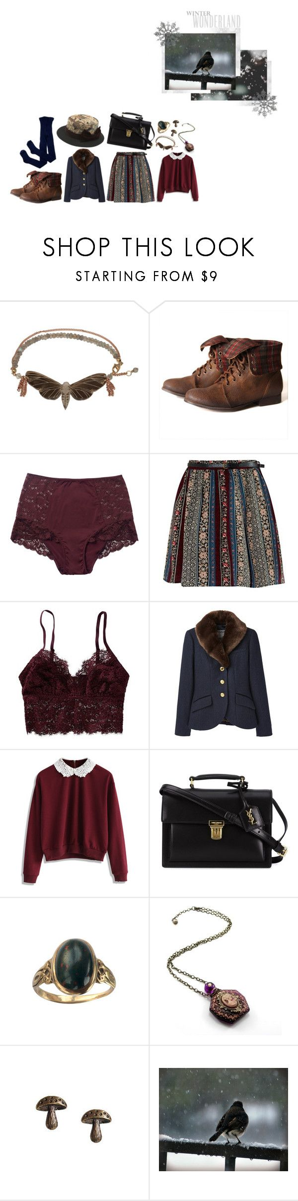 """""""31 Day Challenge - Day 19"""" by aurenfaie ❤ liked on Polyvore featuring Monki, Aerie, Joules, Chicwish and Yves Saint Laurent"""