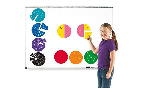 Cercles de fractions magnétiques recto verso à fabriquer parce que très dispendieux. ..