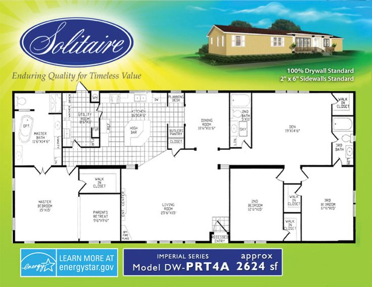 48 best images about house plans for family on pinterest solitaire mobile home floor plans house design ideas