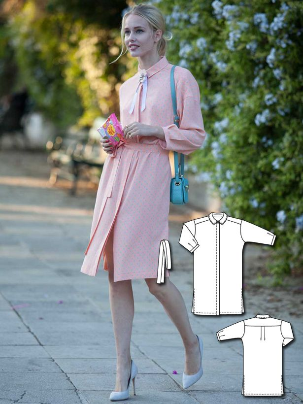 Shirt Dress 03/2016  #burdastyle #sewing #pattern #sew #diy