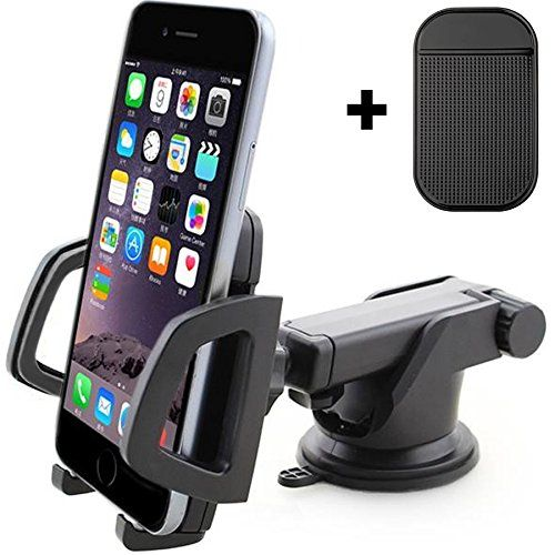 CIVPOWER Universal Dashboard Phone Holder for Car – Best Windshield Cell Phone Car Mount – Ideal for iPhone 7, 7 Plus, 6s Plus, 6s, 5s, 5c, Samsung S7, S7 Edge, S6, S6 Edge, S5 and Other Smartphones
