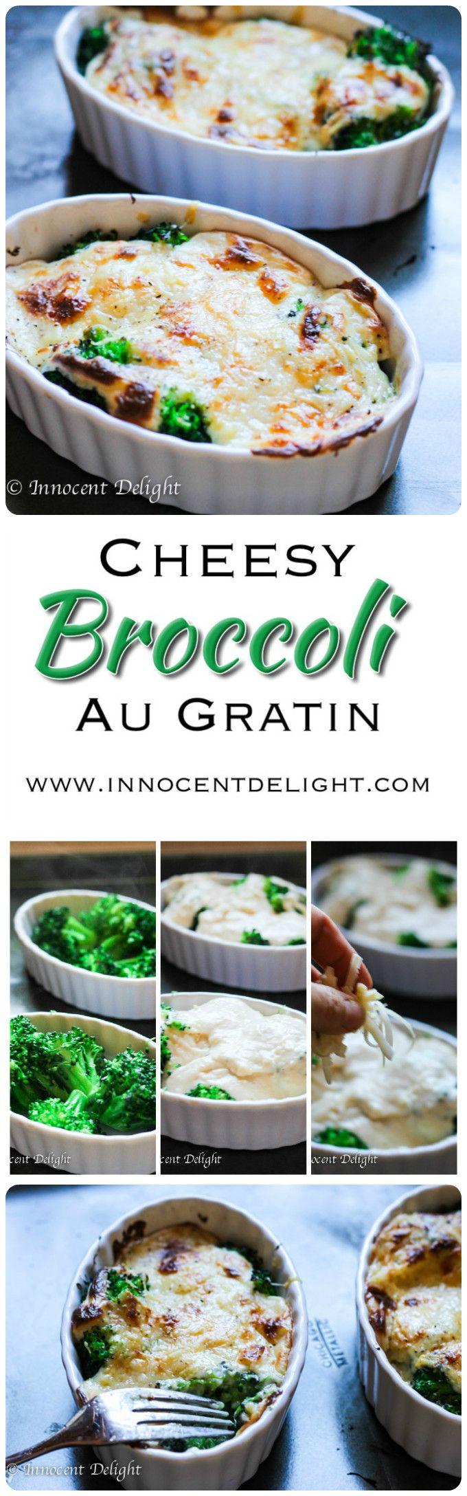 Cheesy Broccoli Au Gratin - the best way to eat broccoli.