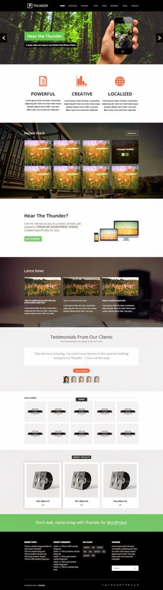 Thunder Mega Website PSD Template