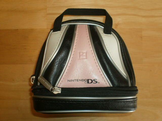 NINTENDO DS pink BOWLING-style CARRYING CASE game bag BRUNSWICK #Nintendo