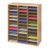 Need this! Large Wood/Corrugated Literature Organizer
