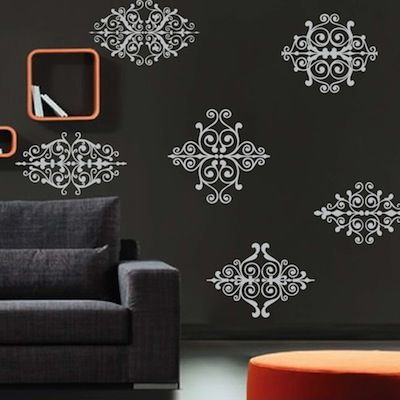 Rustic Ornament Wall Decals