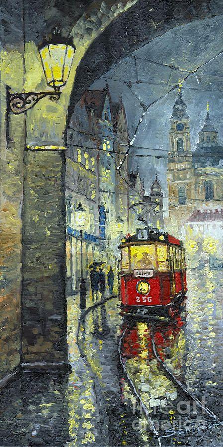 Praha Red Tram Mostecka  zastávkou našeho masivního dubového nábytku www.easyfurn.cz na našem turné po České Republice