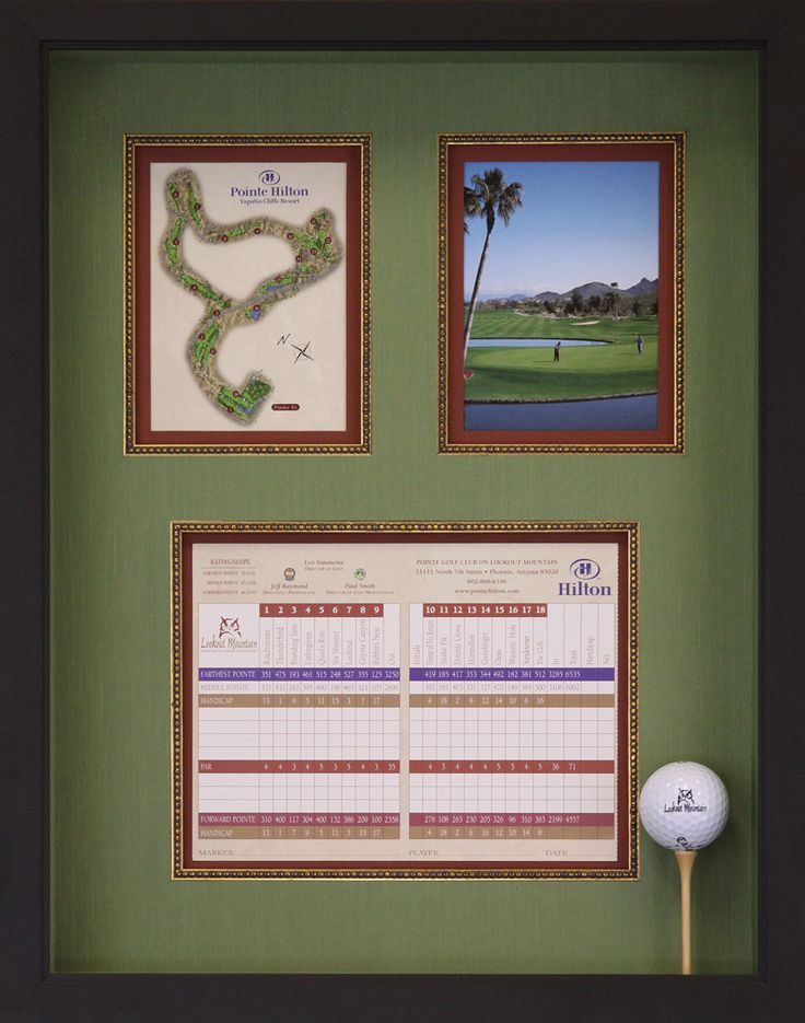 Hole in One Shadowbox