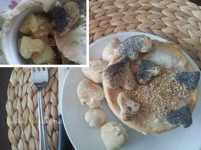 Una deliziosa idea idea per cucinare il pollo, perfetto per una cena romantica, ma anche per una cena tra amici   Chicken bread crust with potatoes and mushrooms - ...
