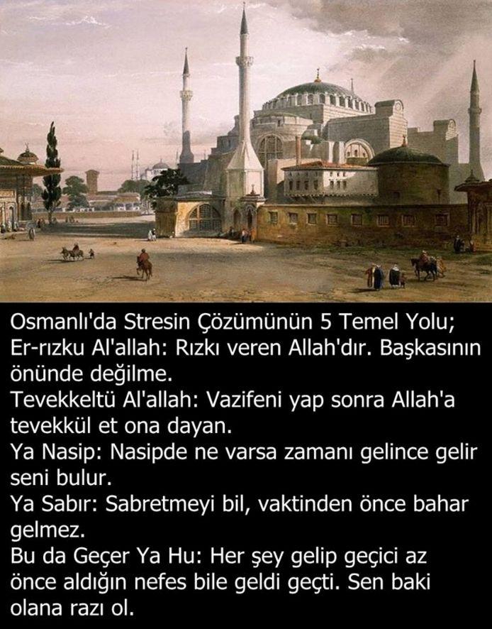 Osmanlı'da stresin çözümünün beş temel yolu... #OsmanlıDevelti