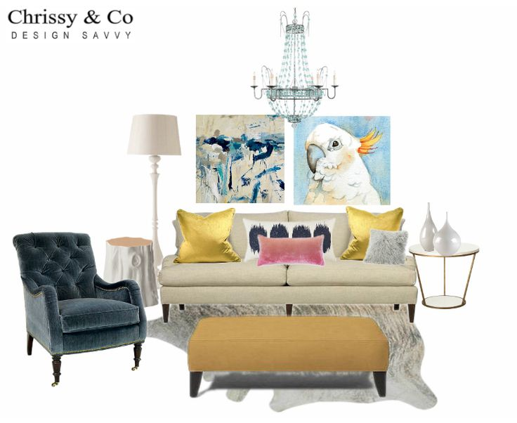 Contemporary Living Room Client Conceptual: Design By Chrissy & Co Design Savvy.