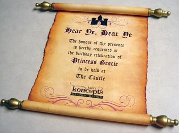 Diy Scroll Wedding Invitations: Pirate Gold Scroll Wedding Invitations Designs