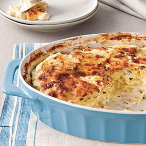 Mama's Way: Classic Parmesan Scalloped Potatoes - Mama's Way or Your Way? Side Dishes - Southernliving. This lavishly rich casserole is ideal for family suppers. For a slight twist, try Gruyère cheese instead of Parmesan.Why We Love Mama's WayCheesy, golden crustWell-seasoned, but not overpoweringButtery Yukon gold potatoesRecipe:Classic Parmesan Scalloped Potatoes