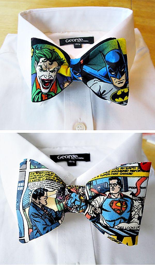 custom superhero/comic bow ties