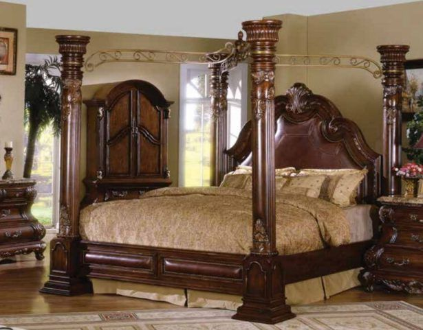 Bedroom:Wonderful California King Bed Frames Cal King Canopy Bed Frame Caledonian Brown Cherry California King Poster Canopy Bed With Leather Accents