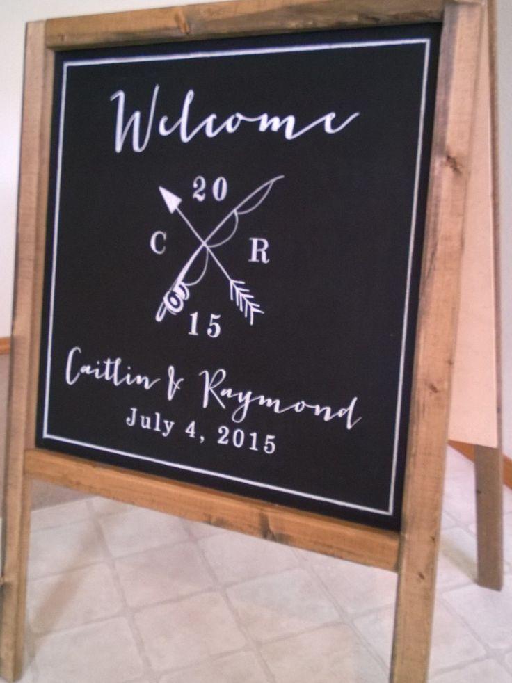 Wedding Chalk Art - Welcome sandwichboard