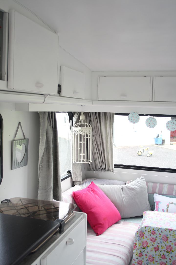 OUR NEWLY RENOVATED SHABBY CHIC CARAVAN
