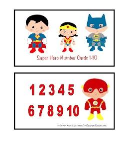 Lots of preschool printables.: Heroes Theme, Homeschool Ideas, Preschool Printables, Education Preschool, Preschool Ideas, Super Heroes, Heroes Numbers, Numbers Cards, Superhero Theme
