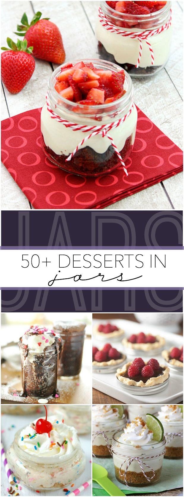 50+ Desserts in Jars
