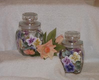 Handpainted Candle Jar with Sassy Sachet by PreciousDesirables, $12.95
