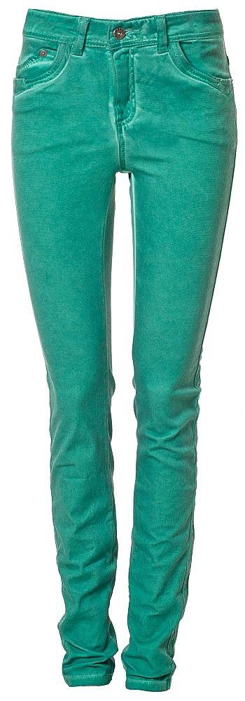 Articles Groene skinny jeans met oil wash
