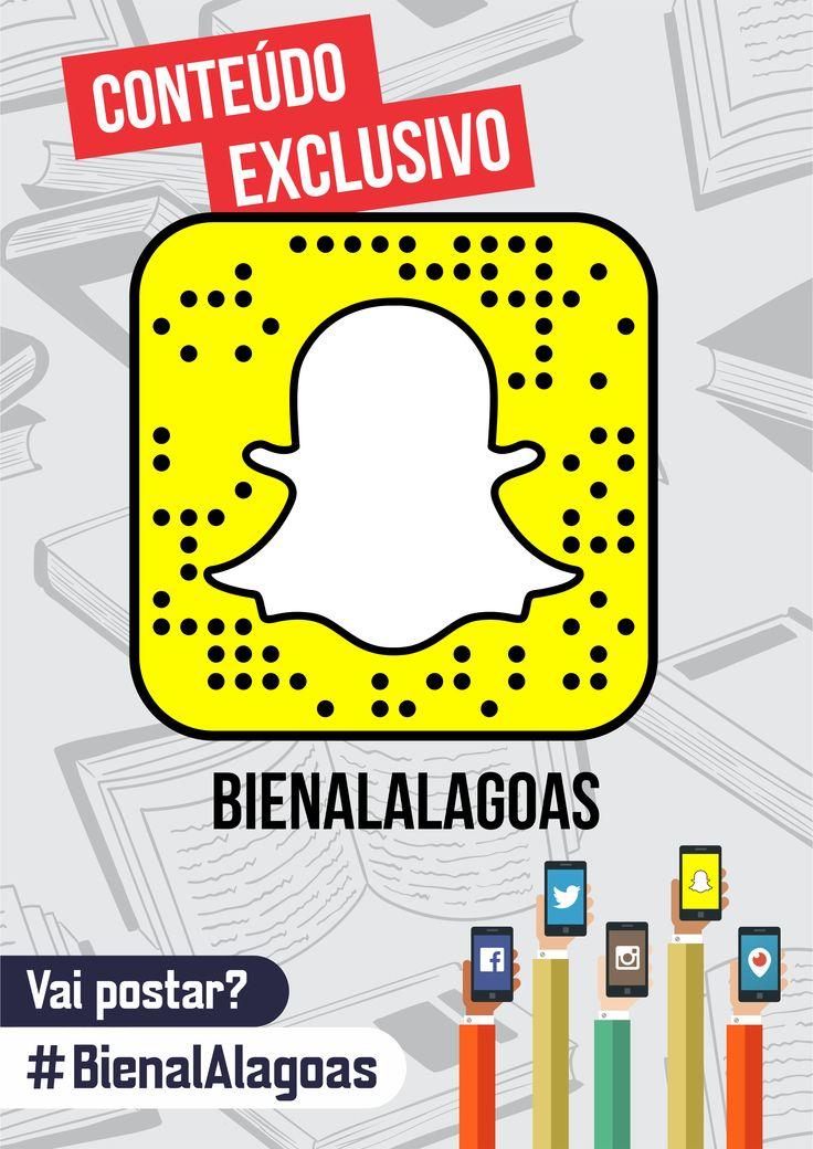 Cartaz de divulgação do Snapchat da Bienal Alagoas