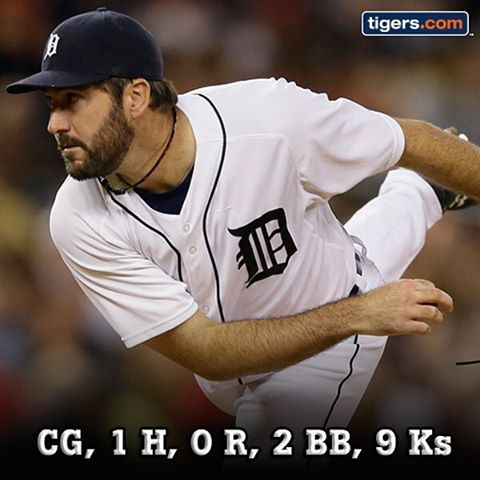 """""""Justin Verlander turned in quite the performance tonight. #Tigers"""""""