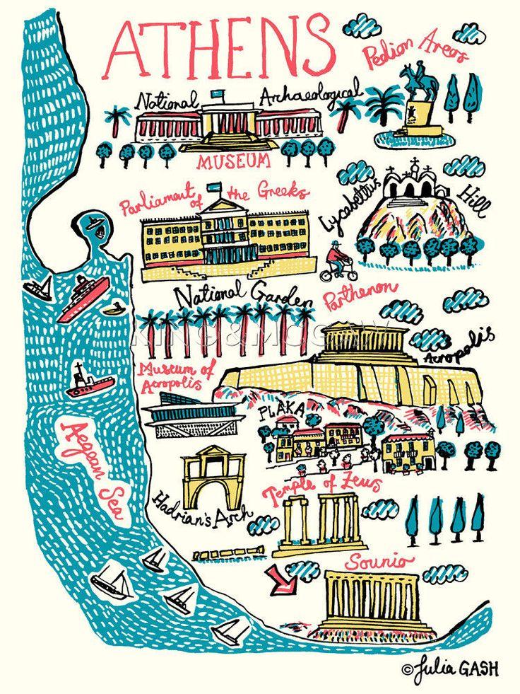 Athens Art Print by Julia Gash at King & McGaw