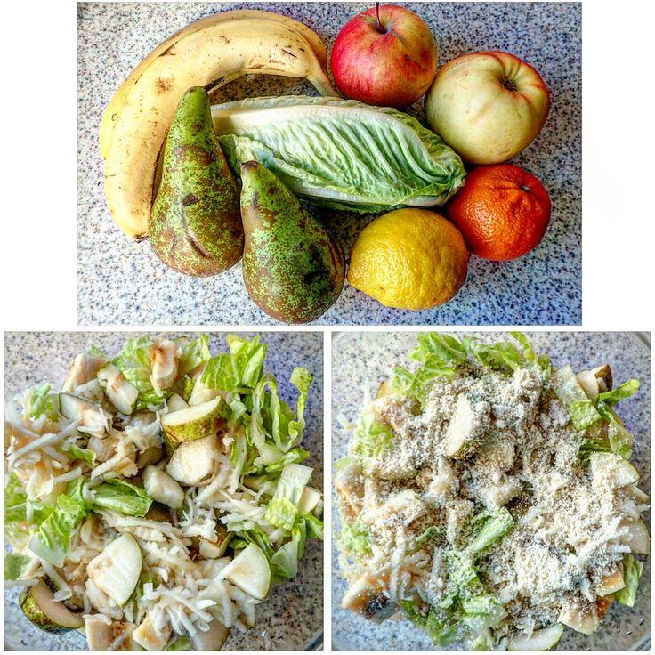 #rawsalad :#banana 🍌 #salad #apple #pear 🍐 #sesame   #souse: #mandarin #lemon 🍋   #raw #rawlara #rawrecipes #rawfood #veganfood #veganrecipes #vegetarianrecipes #vegetarianfood   #сыроедческийсалат #сыроедныерецепты #сыроедческиерецепты #сыроедческаяеда #веган #веганскиерецепты #веганскаяеда #вегетарианскиерецепты #вегетарианскаяеда