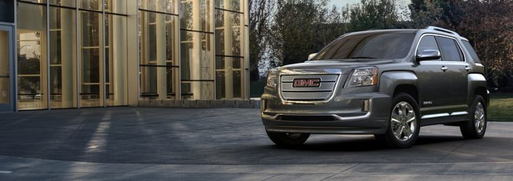 The GMC Terrain Denali compact luxury SUV is the perfect combination of styling, utility and efficiency. The 2017 Terrain Denali features front and rear fascia with satin-chrome accents, LED daytime running lamps and a signature Denali grille for a bold look that is distinctively GMC.