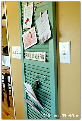 !: Ideas, Craft, Bulletin Board, Card, Kitchen, Shutter Project, Shutters