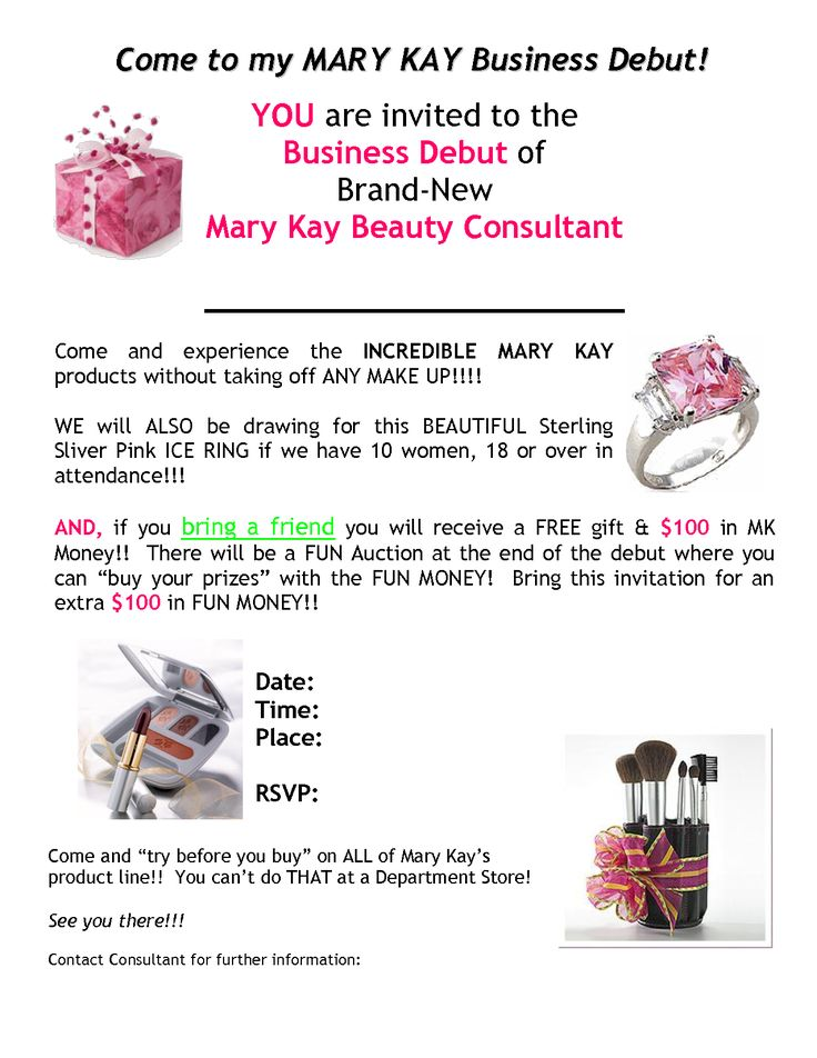 342 best Mary Kay Business Opportunity images – Mary Kay Party Invitation