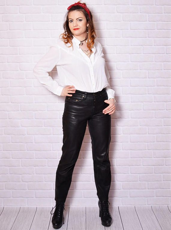 lovely leather trousers outfit night out free