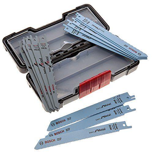 Bosch 2607010901 Set de 15 Lames de scie sauteuse wood and metal basic s 918 AF (5x)/ S 918 BF (5x)/ S 617 K (5x): Coffret lames pour scie…