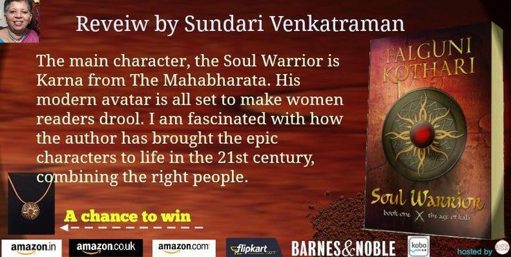 @sundarivenkat #review #Soul Warrior @TheAgeofKali by Falguni Kothari @F2tweet#Mythology #fantasy  https://www.facebook.com/TheBookClubBlogTours/photos/pb.118778198317770.-2207520000.1454570618./446922445503342/?type=3&theater