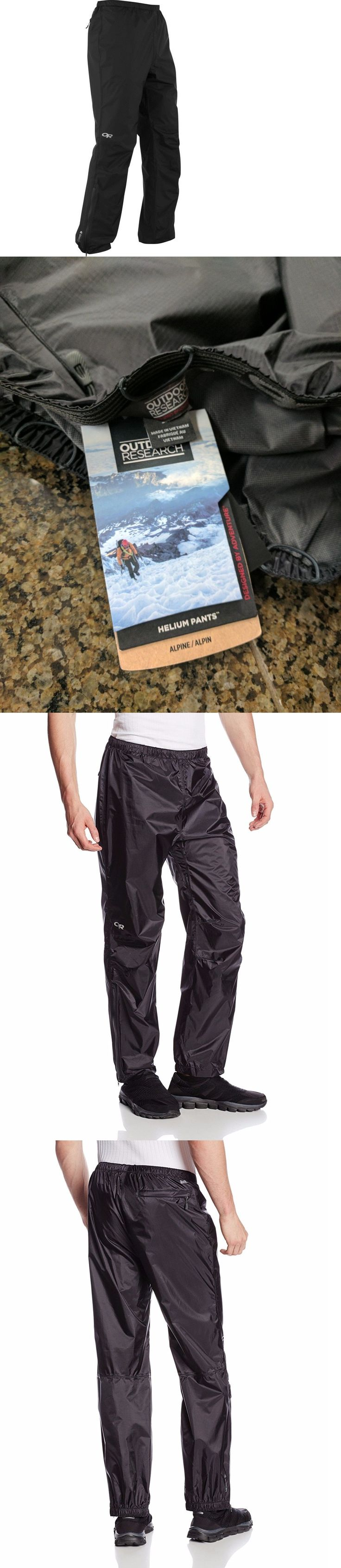 Snow Pants and Bibs 36261: Outdoor Research Helium Waterproof Rain Pants - Mens Small (S) - Black - New BUY IT NOW ONLY: $79.0