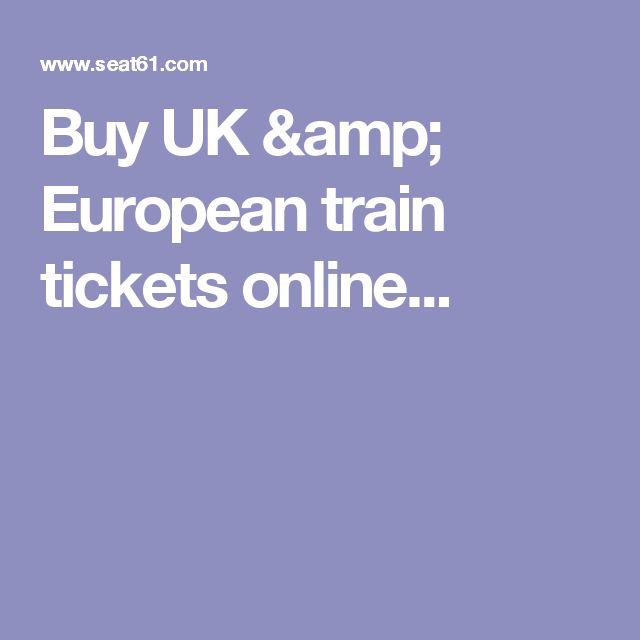 Buy UK & European train tickets online...
