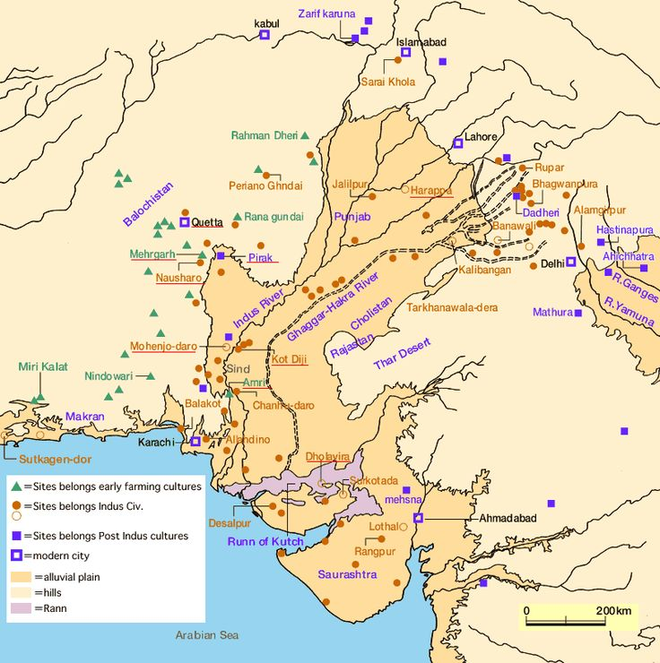 Over 1,056 Harappan cities and settlements had been found, of which 96 have been excavated. They are mostly located in the broad regions of the Indus and Ghaggar-Hakra Rivers and their tributaries. Harappa, Mohenjo-Daro, Dholavira, Ganeriwala in Cholistan and Rakhigarhi were the major urban centers.