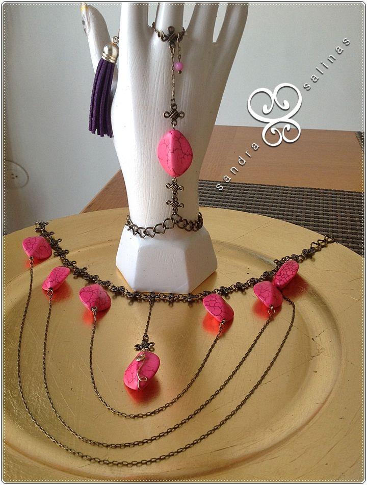 Pulsera y collar | MODA | Pinterest | Pulseras, Collares y ...