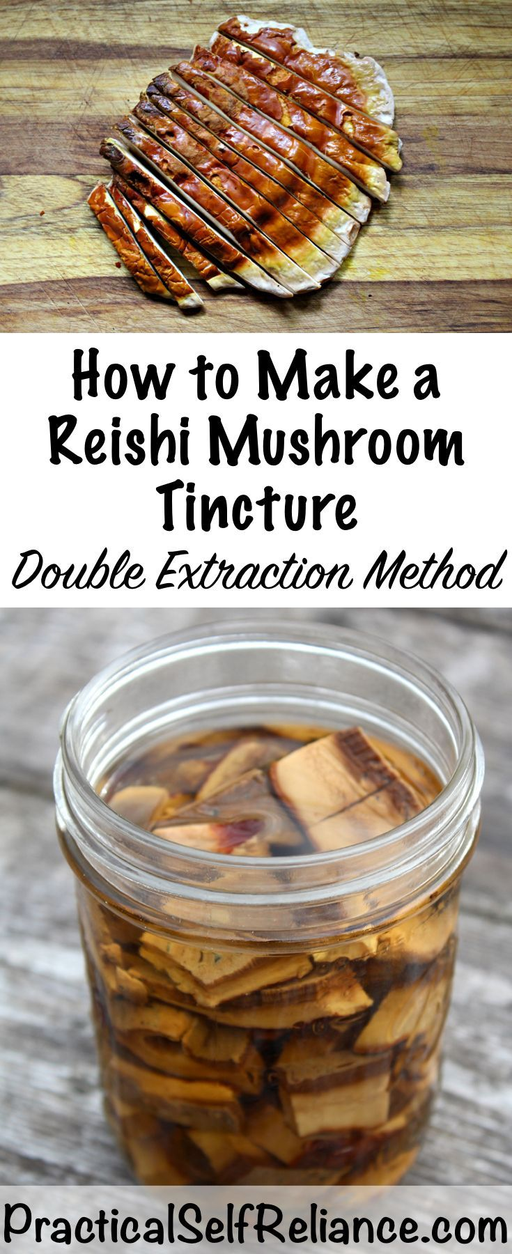 How to Make a Reishi Mushroom Tincture - Double Extraction Method