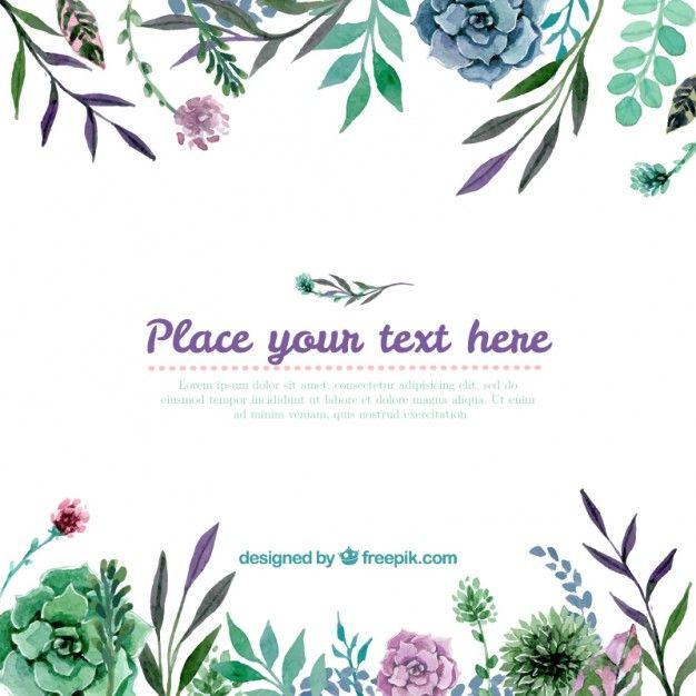 Fondo floral Vector Gratis
