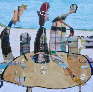 "Saatchi Art Artist Ilya Volykhine; Painting, ""Game of Cards, 2015"" #art"