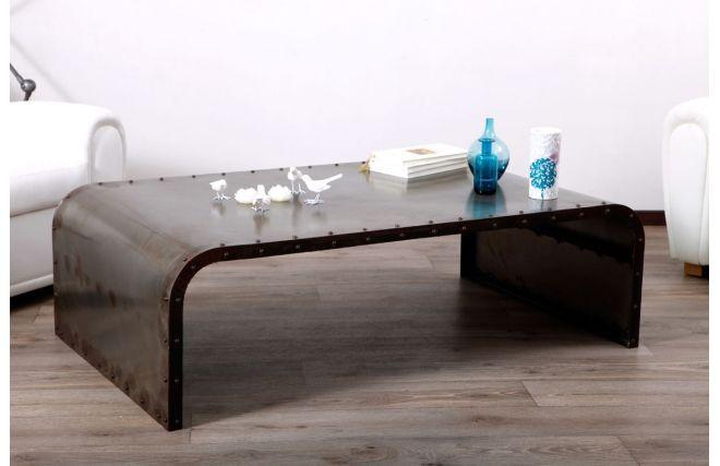 Tavolino in metallo stile industriale  FERRA - Zoom